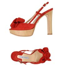 Luciano Padovan - Red Sandals - Lyst
