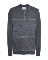 Pierre Darre' Gray Sweatshirt for men