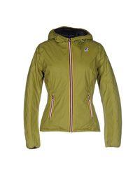 K-Way Green Down Jacket