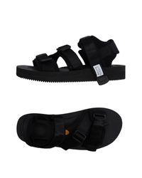 Suicoke Black Sandals for men
