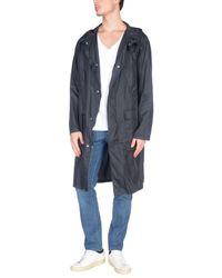 MSGM Black Overcoat for men