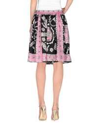 Boutique Moschino Pink Knee Length Skirt
