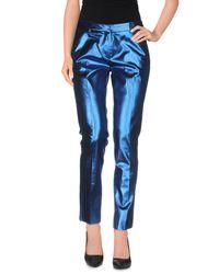 Mauro Grifoni Blue Casual Pants