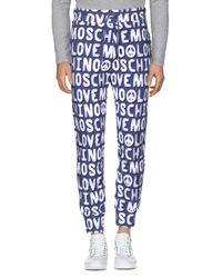 Love Moschino Blue Casual Pants for men