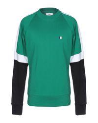 AMI Green Tricolour Sweatshirt for men