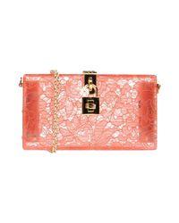 Borsa a mano di Dolce & Gabbana in Pink
