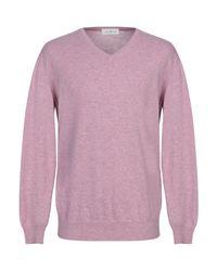 Della Ciana Purple Sweater for men