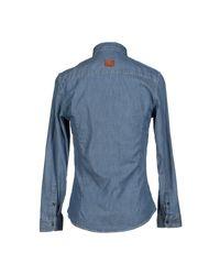Bikkembergs Blue Denim Shirt for men