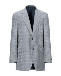 Canali Blue Suit Jacket for men