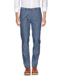 LABORATORI ITALIANI Blue Casual Trouser for men