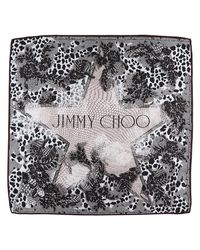 Jimmy Choo Multicolor Square Scarf