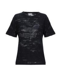 T-shirt Saint Laurent en coloris Black