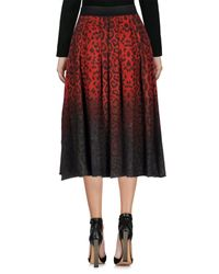 Jijil - Red 3/4 Length Skirt - Lyst