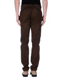 Pantalone di Incotex Red in Brown da Uomo