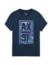 T-shirt di Armani Exchange in Blue da Uomo