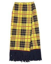 VIKI-AND Yellow 3/4 Length Skirt
