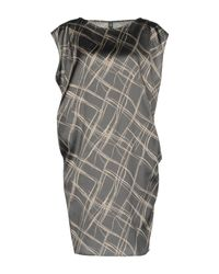 Eleventy Gray Short Dress