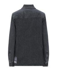 Print denim shirt Off-White c/o Virgil Abloh en coloris Black