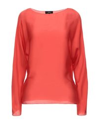 Theory Red Blouse