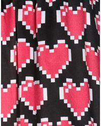 Jupe au genou Love Moschino en coloris Black