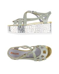 Pollini Green Sandals