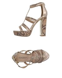 GAUDI - Metallic Sandals - Lyst