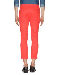 Pantalones Grey Daniele Alessandrini de hombre de color Orange