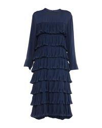 Marni Blue 3/4 Length Dress