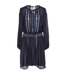 Elisabetta Franchi Blue Short Dress
