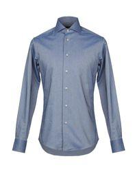 Camicia di Zanetti 1965 in Blue da Uomo