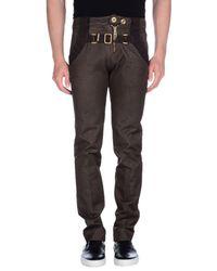 Frankie Morello Gray Denim Pants for men
