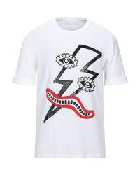 T-shirt di Neil Barrett in White da Uomo