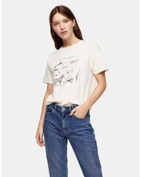Camiseta TOPSHOP de color White