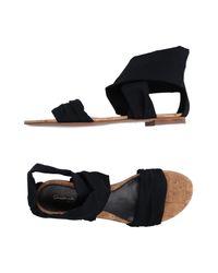 Gianvito Rossi - Black Sandals - Lyst