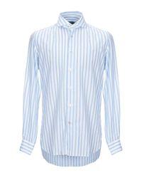 Camisa Vincenzo Di Ruggiero de hombre de color Blue