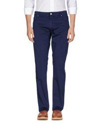 Pt05 Blue Casual Pants for men
