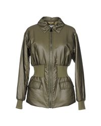 Peuterey Green Synthetic Down Jacket