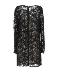 Blumarine - Black Short Dress - Lyst