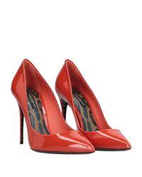 Decolletes di Dolce & Gabbana in Red