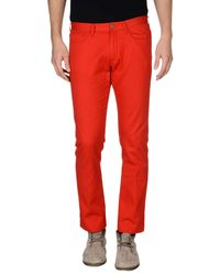 Mauro Grifoni Red Casual Pants for men