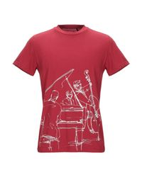 Tee Library Red T-shirt for men