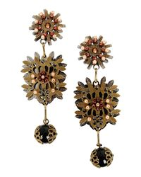 DSquared² - Metallic Floral Earrings - Lyst