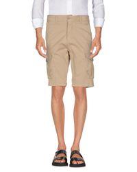 Squad² Natural Bermuda Shorts for men