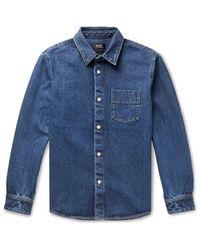 Camisa vaquera A.P.C. de hombre de color Blue
