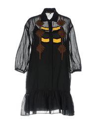 Robe courte Space Style Concept en coloris Black