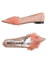 Rochas - Pink Ballet Flats - Lyst
