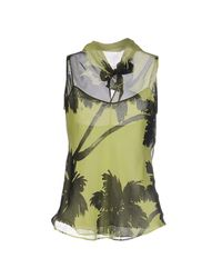Boutique Moschino - Green Top - Lyst