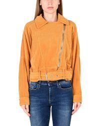 Free People - Orange Jacket - Lyst