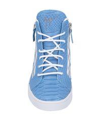 Giuseppe Zanotti Blue High Sneakers & Tennisschuhe