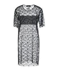 MSGM Black Kurzes Kleid